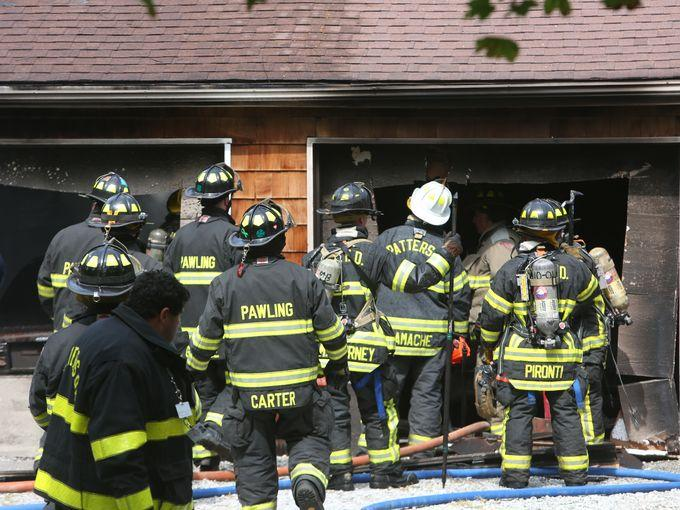 Even while fire damage was extensive in the garage, it was contained to that area not spreading into the residents.